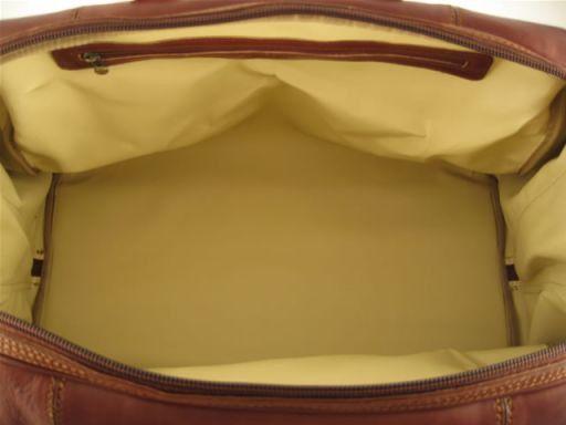 Monaco Borsa da viaggio in pelle - Misura grande Marrone TL140437