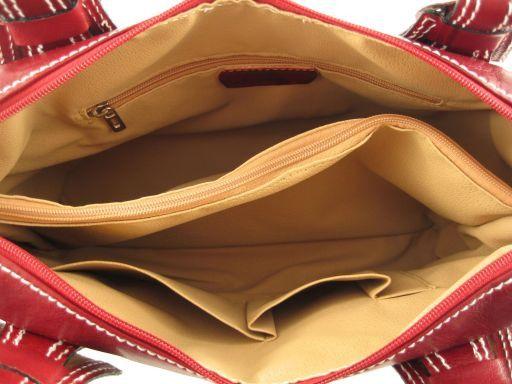 Anastasia Klassische Henkeltasche aus Leder Rot TL140440