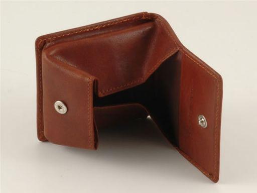 Esclusivo portamonete in pelle Marrone TL140506