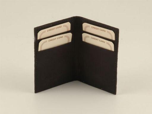 Esclusivo portacarte di credito in vero pitone Nero TL140547