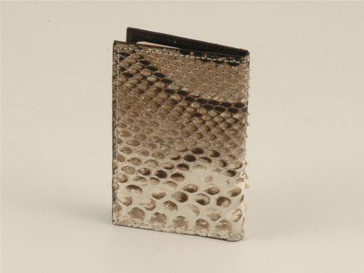 Esclusivo portacarte di credito in vero pitone Roccia TL140547