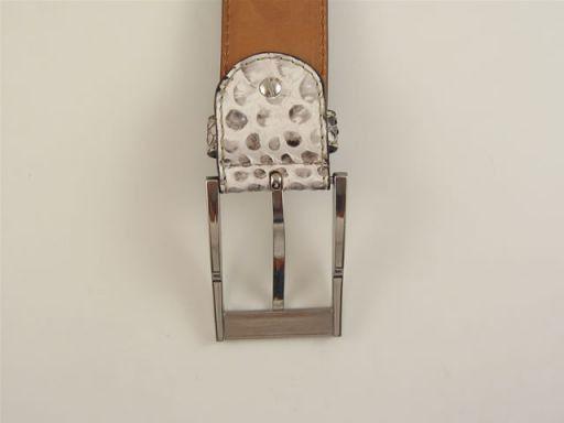 Esclusiva cintura in vero pitone Nero TL140548