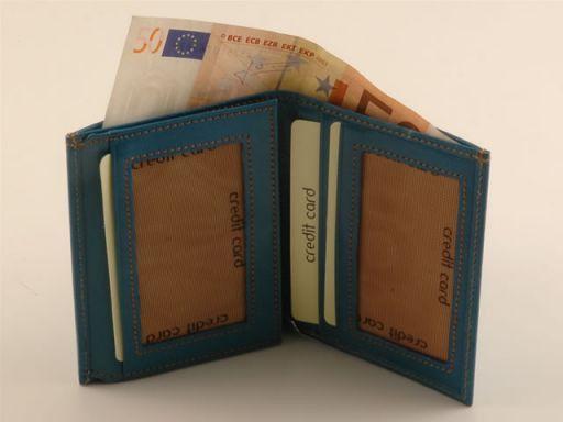 Esclusivo portafogli da uomo in pelle Verde TL140627