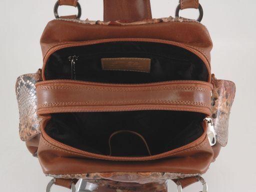 Agata Bolso de señora en pitón Marrón TL140744