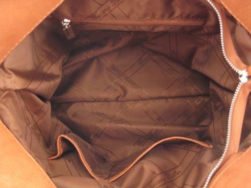 Aurora Borsa in pelle stampa cocco da donna Marrone TL140756