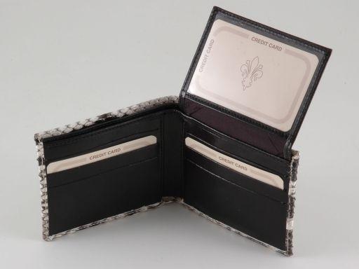 Esclusivo portafoglio uomo in vero pitone Roccia TL140768