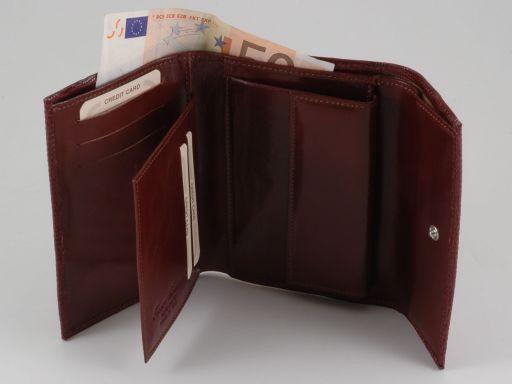 Esclusivo portafogli da donna in lucertola Rosso TL140807