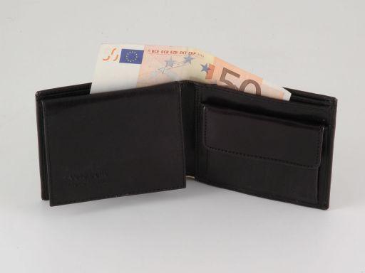 Esclusivo portafoglio uomo in pelle 3 ante Marrone TL140814