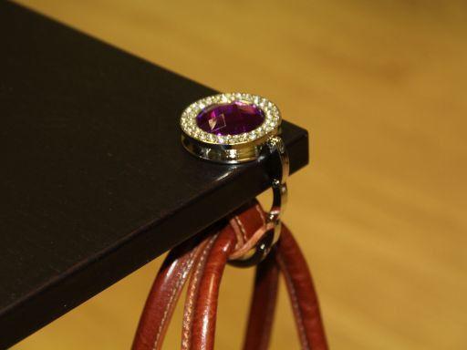 Portaborse da tavolo Rotondo Rosso TL140869