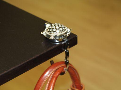 Portaborse da tavolo strass Tartaruga Neutro TL140872