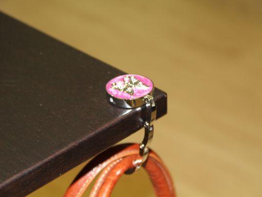 Portaborse da tavolo smaltato Farfalla Grigio chiaro TL140875