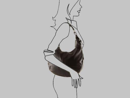 Doriana Borsa donna in pelle nappata Nero TL140879