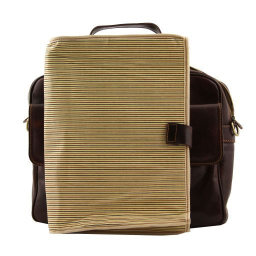 Reggio Emilia Exclusive leather laptop case Brown TL140889