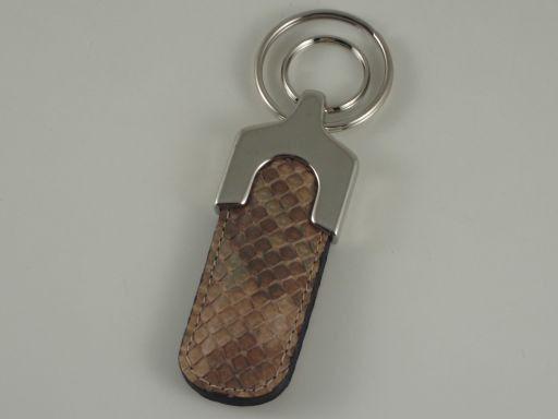 Esclusivo portachiavi in pitone Sabbia TL140733