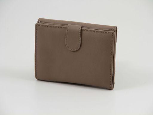 Esclusivo portafogli in pelle nappata Cognac TL140902