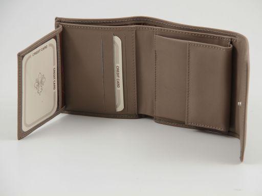 Esclusivo portafogli in pelle nappata Rosso TL140903