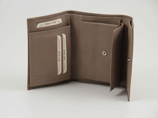 Esclusivo portafogli in pelle nappata da donna Testa di Moro TL140904