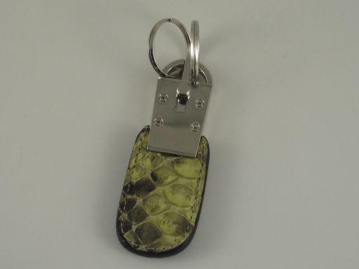 Esclusivo portachiavi in pitone Verde TL140734