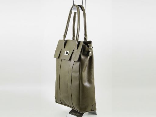 Eva Leather tote bag Forest Green TL140917