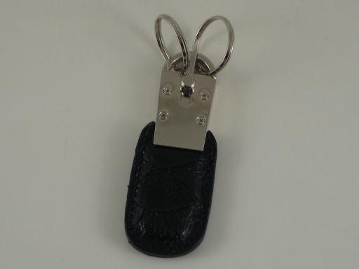 Esclusivo portachiavi in pitone Nero TL140734