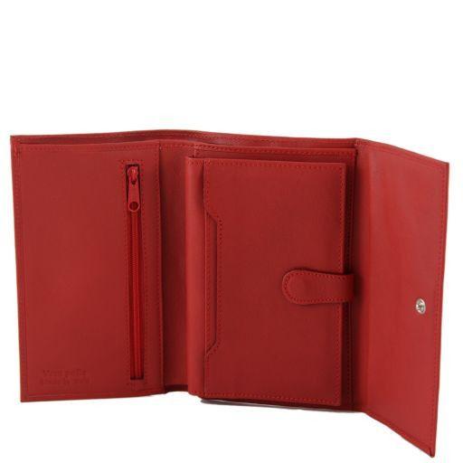 Esclusivo portafogli in pelle da donna nappata Nero TL140937