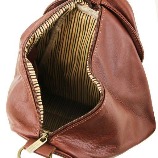 Delhi Stylischer Cityrucksack aus Leder Cognac TL140962