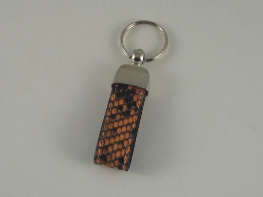 Esclusivo portachiavi in pitone Arancio TL140735