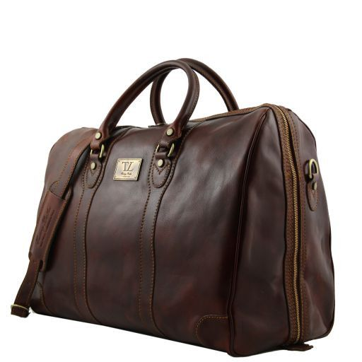Luxembourg Travel leather bag Brown 141024