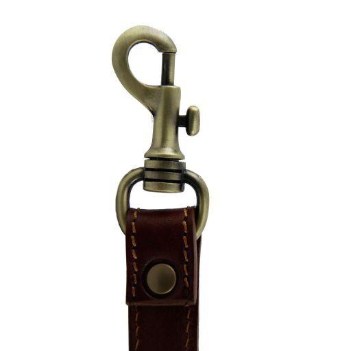 Tracolla in pelle regolabile per cartelle Rosso SP141029