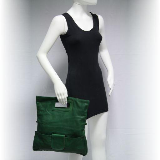 Emma Pochette in pelle Verde TL141035