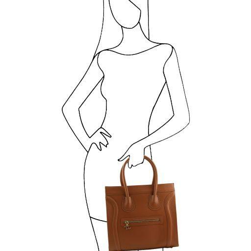 TL Bag Handtasche aus genarbtem Leder Gelb TL141090