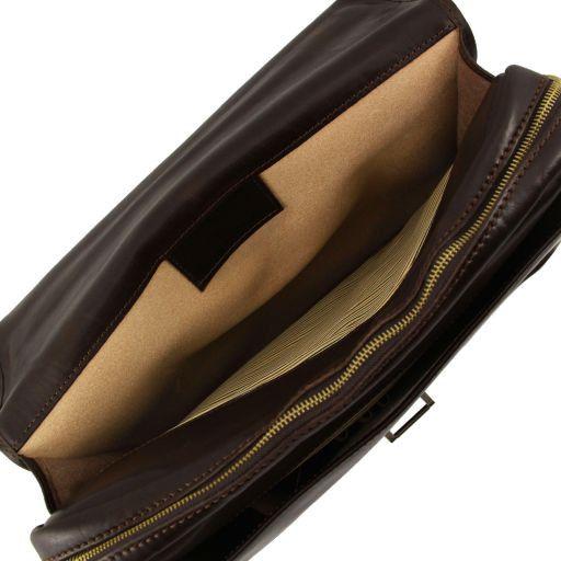 Vernazza Cartella Porta notebook in pelle 3 scomparti Marrone TL141096