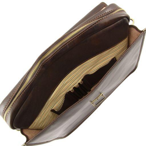 Vernazza Cartella Porta notebook in pelle 3 scomparti Testa di Moro TL141096