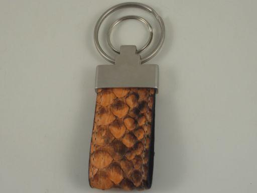 Esclusivo portachiavi in pitone Arancio TL140736