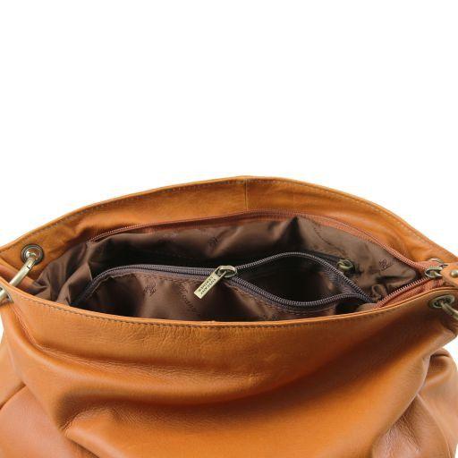 TL Bag Сумка на плечо с кисточкой из мягкой кожи Cinnamon TL141110