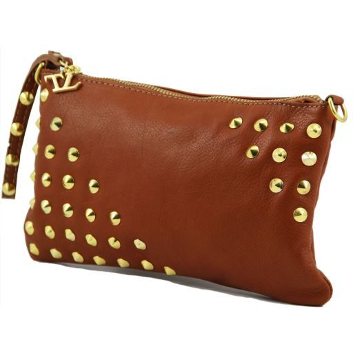 TL Rockbag Bag with studded handle - Small Cognac TL141123