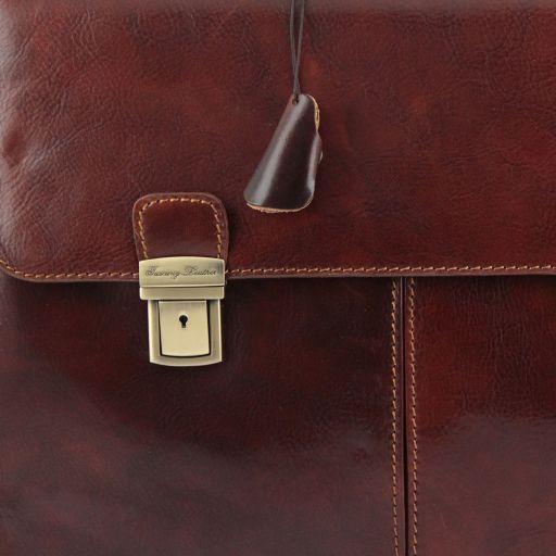 Bolgheri Leather briefcase 2 compartments Black TL141144