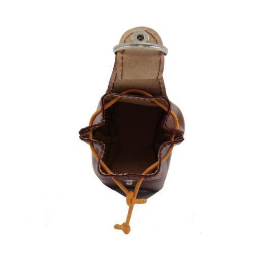Esclusivo zainetto portachiavi in pelle Testa di Moro TL141157
