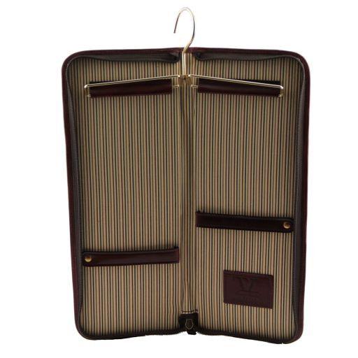 Elegante portacravatte da viaggio in pelle Nero TL141169
