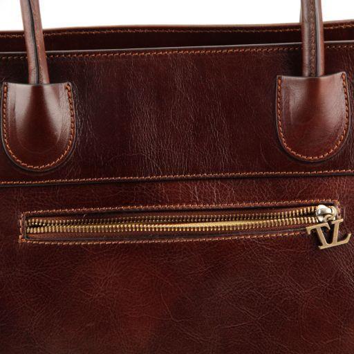 Elisa Borsa shopping in pelle Miele TL141176