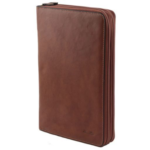 Tiberio Exclusive Leather Document Case Brown FC141179