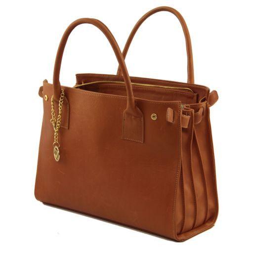 TL Bag Borsa morbida con pendente dorato Blu TL141191