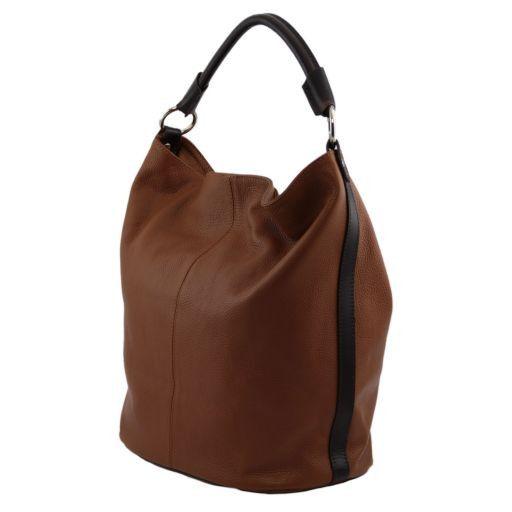 TL Bag Borsa secchiello da donna in pelle Blu scuro TL141201