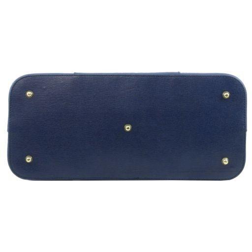 TL Bag Saffiano leather handbag with buckles Black TL141236