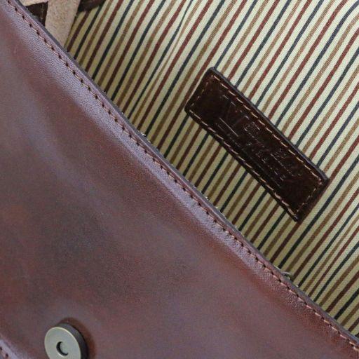 Jenny Tracollina in pelle con pattella - Misura grande Marrone TL141251