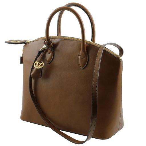 TL Bag Borsa shopper in pelle Blu scuro TL141263