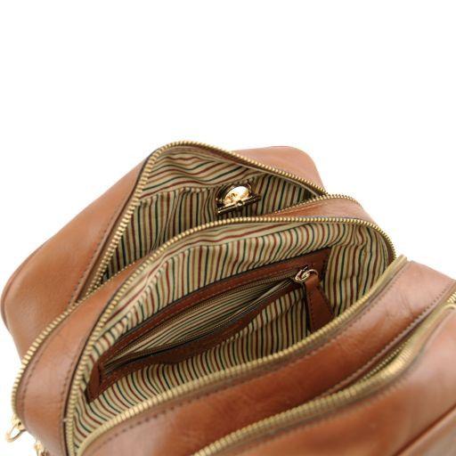 TL NeoClassic Bauletto in pelle con manici a catena e nappa Nero TL141266