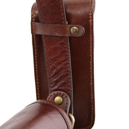 Esclusivo portaocchiali/Smartphone/porta orologio a tracolla in pelle Verde TL141282