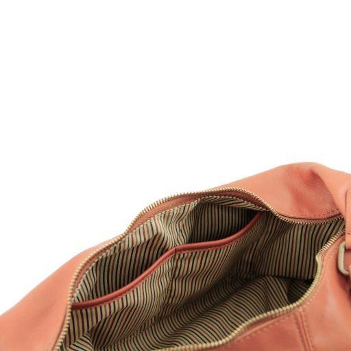Serena Shopper in pelle morbida Testa di Moro TL141286