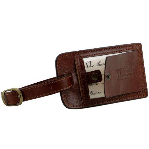 TL Voyager Borsa da viaggio in pelle con tasca frontale Marrone TL141303